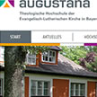 Screenshots Augustana-Website