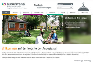Screenshot der Augustana-Website