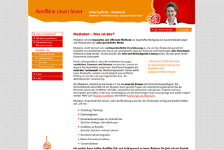 Screenshot der Website der Mediatorin Heike Seyfferth